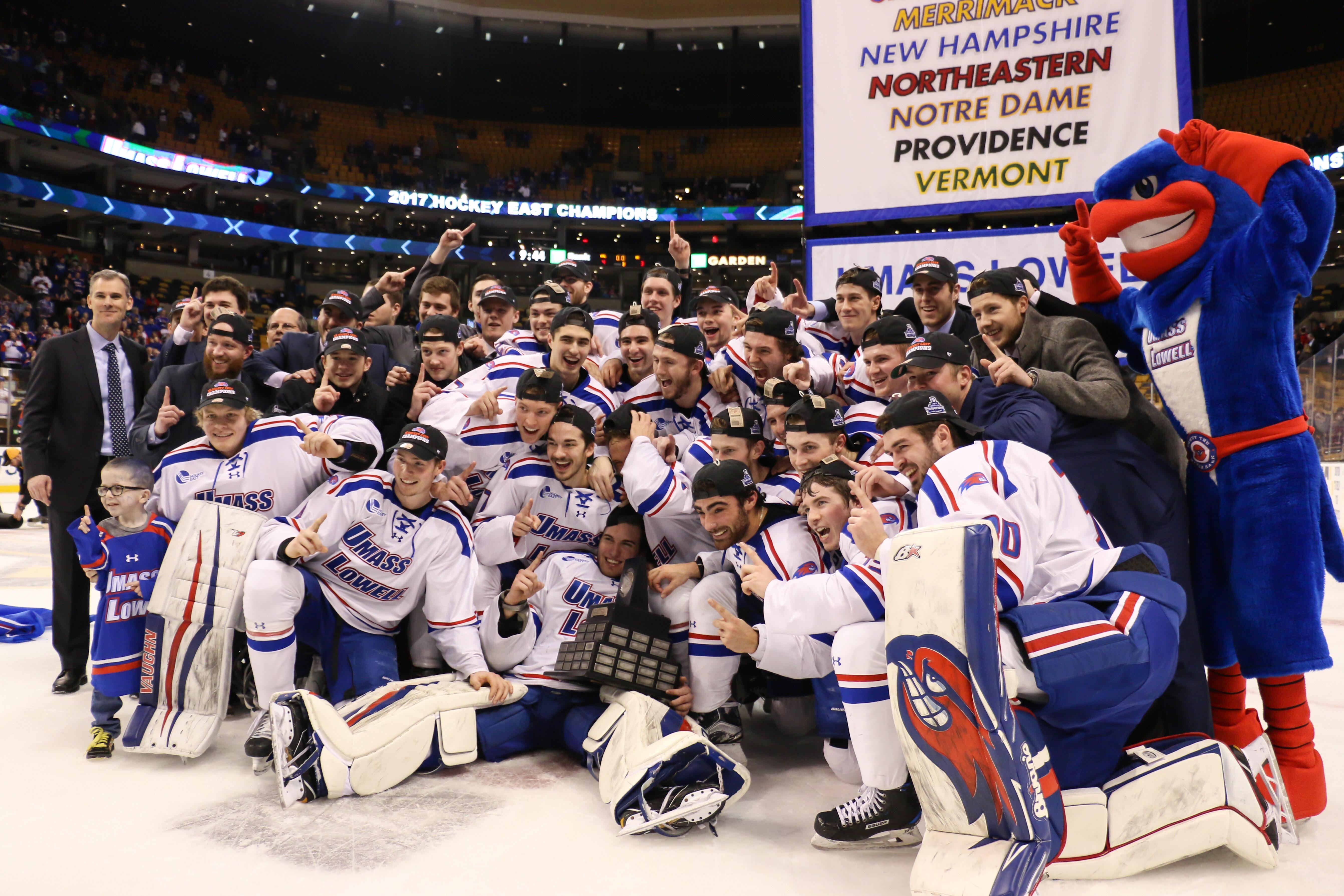 reputable site eee2b 81710 No. 4 River Hawks dismantle Boston College to earn third Hockey East  Championship